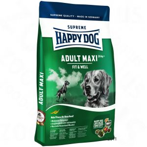 PROMOCJA !! Happy Dog Fit&Well ADULT MAXI 15 kg + Happy Dog Puszka Indyk 400 g GRATIS!!!