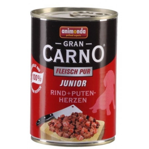 Animonda Gran Carno 400g pies  junior woł.serca