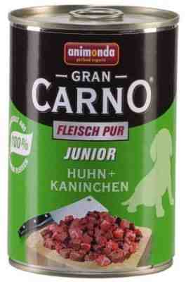 Animonda Gran Carno 400g pies  junior kur.królik